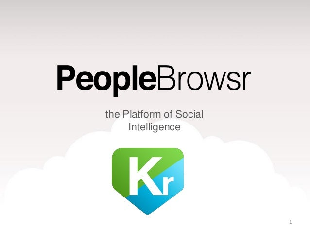 the Platform of Social     Intelligence                         1