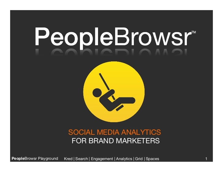SOCIAL MEDIA ANALYTICS                              FOR BRAND MARKETERSPeopleBrowsr Playground   Kred | Search | Engagemen...