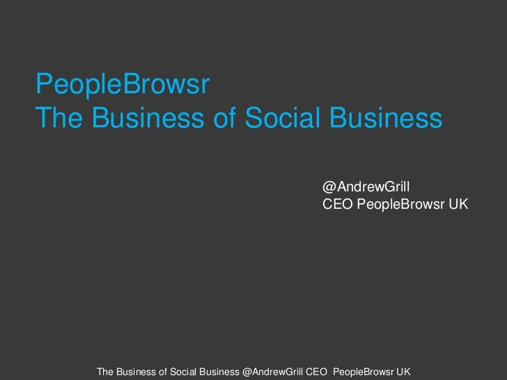 PeopleBrowsr The Business of Social Business <br />@AndrewGrill<br />CEO PeopleBrowsr UK<br />