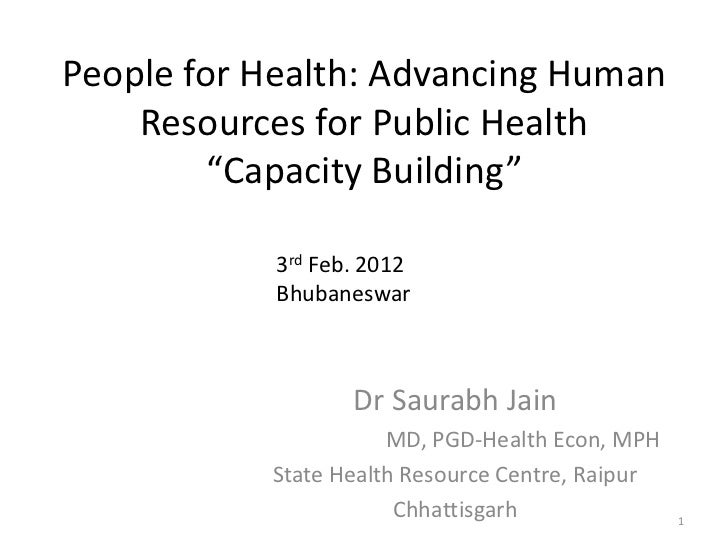 People for health capacity building-final