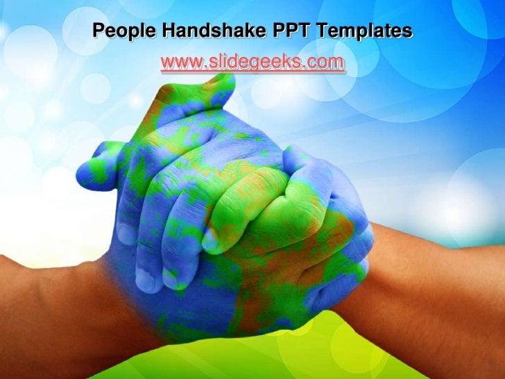 People handshake ppt templates