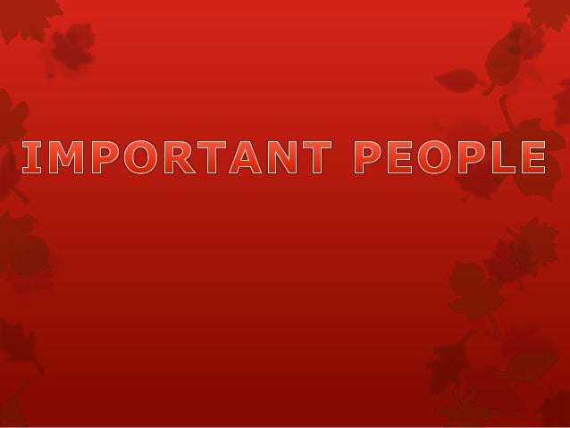 People important