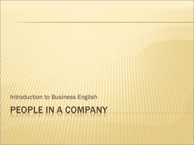Introduction to Business English - Day 15
