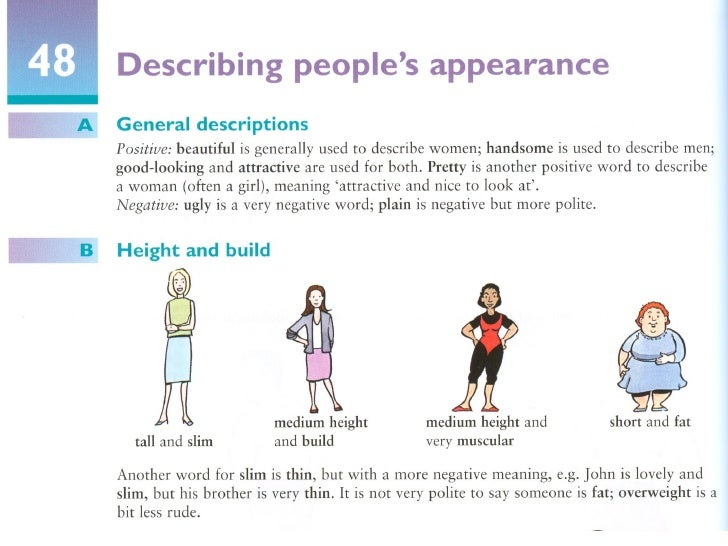 People's appearance
