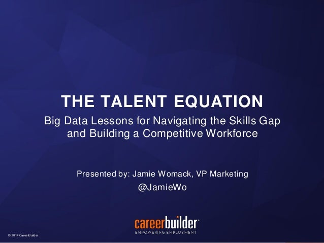 The Talent Equation (2014 PeopleScout Client Forum)