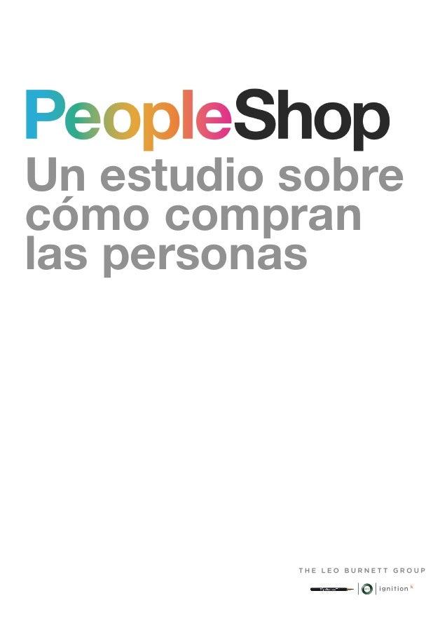 Un estudio sobrecómo compranlas personas