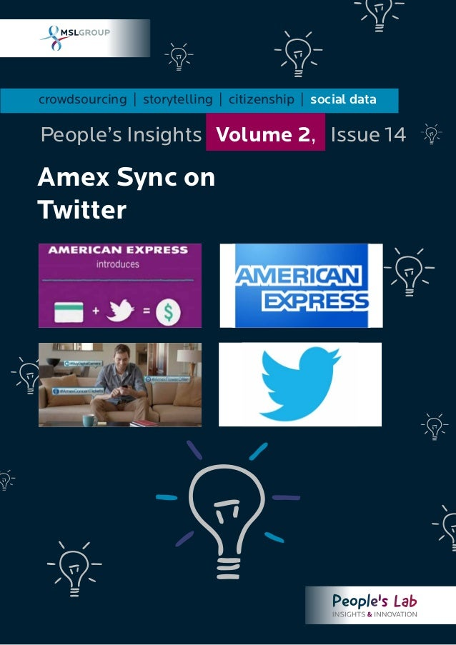 Amex Sync on Twitter: People's Insights Volume 2, Issue 14