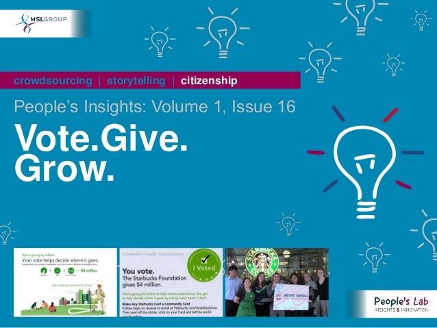 People's Insights Volume 1, Issue 16 : Vote.Give.Grow.