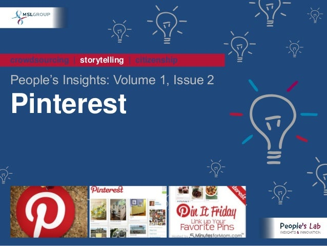 People's Insights Volume1 Issue2 : Pinterest