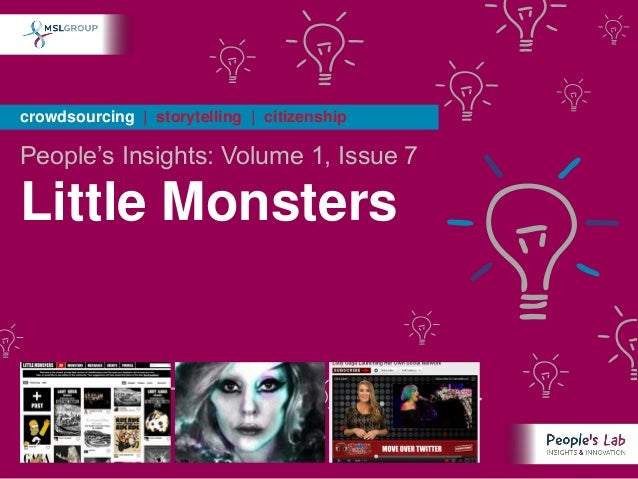 People's Insights Volume 1, Issue 7 : Little Monsters