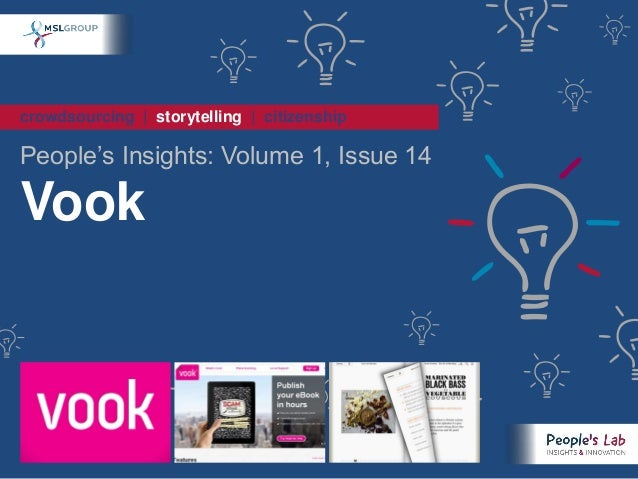 crowdsourcing | storytelling | citizenshipPeople's Insights: Volume 1, Issue 14Vook