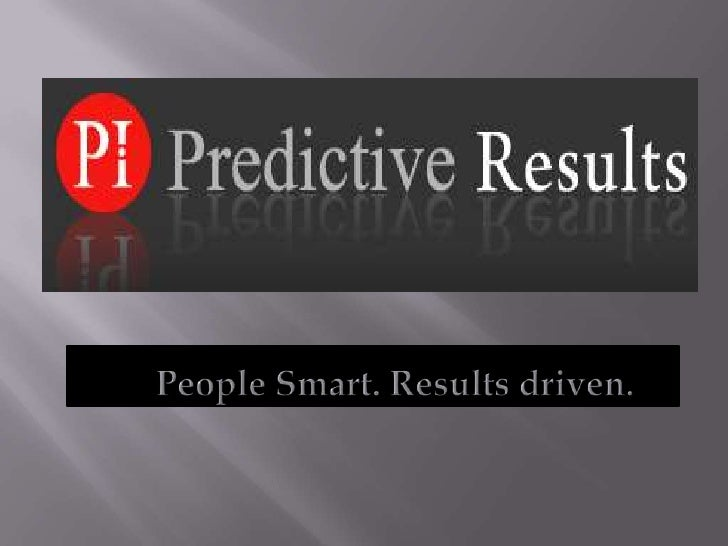 People Smart. Results driven.<br />