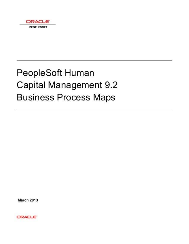 PeopleSoft HCM 9.2 Business Process Maps