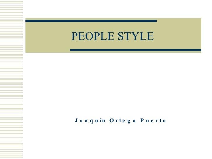 PEOPLE STYLE Joaquín Ortega Puerto