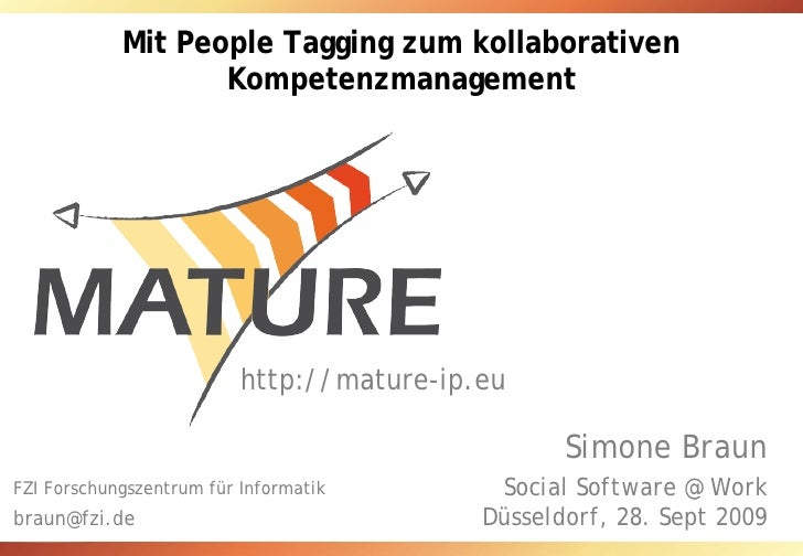 Mit People Tagging zum kollaborativen                    Kompetenzmanagement                               http://mature-i...