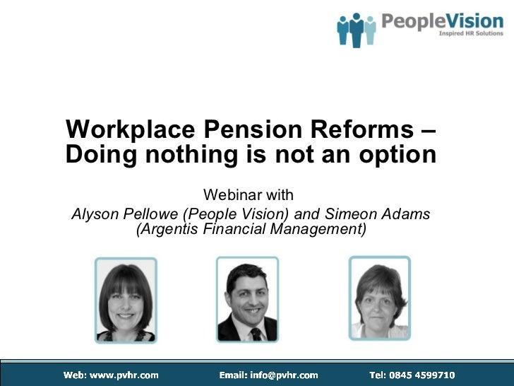 Pension Reform - People Vision