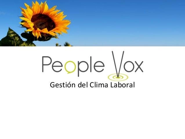 People vox gestión del clima laboral
