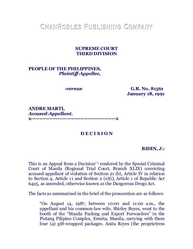 SUPREME COURT                           THIRD DIVISIONPEOPLE OF THE PHILIPPINES,           Plaintiff-Appellee,            ...