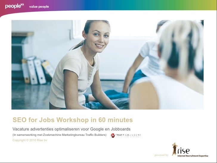 SEO for Jobs Workshop in 60 minutes Vacature advertenties optimaliseren voor Google en Jobboards (In samenwerking met Zoek...
