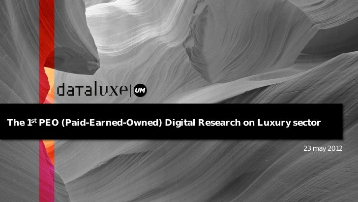 The 1st PEO (Paid-Earned-Owned) Digital Research on Luxury sector                                                         ...