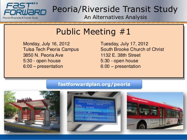 Peoria AA Public Meeting #1 - July 2012