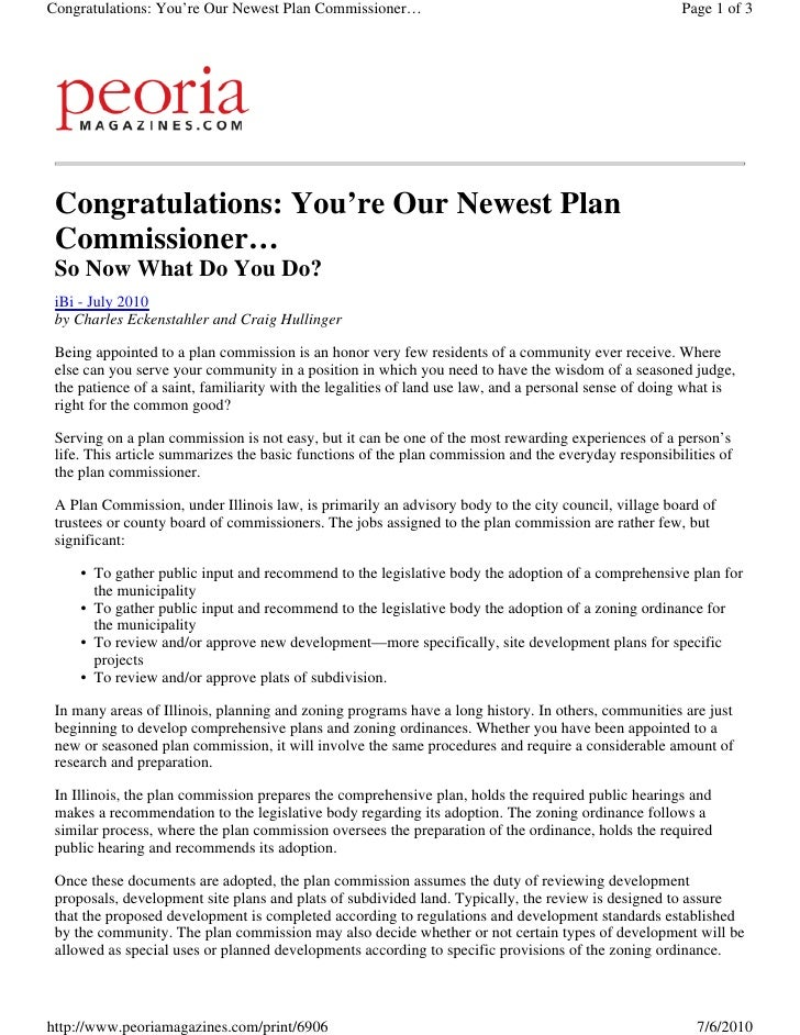Congratulations: You're Our Newest Plan Commissioner…                                                  Page 1 of 3      Co...