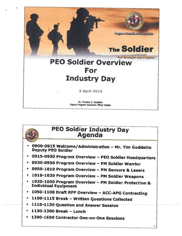 PEO Soldier Industry Day  April 2014