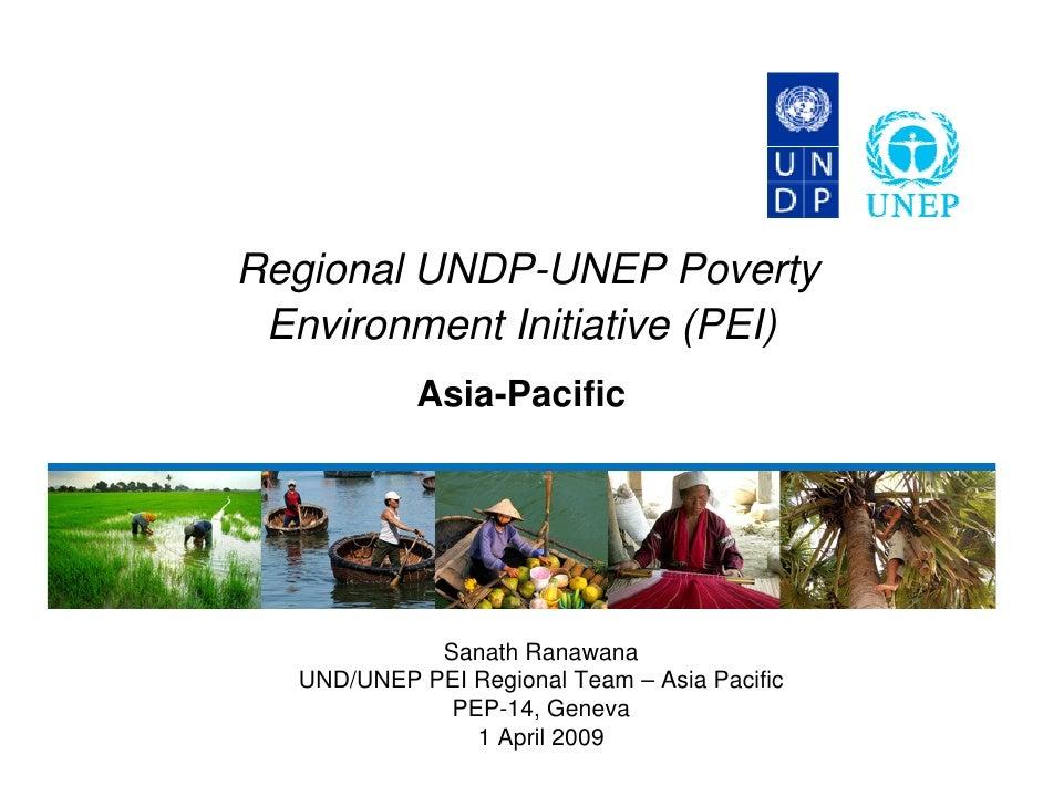 Regional UNDP-UNEP Poverty Environment Initiative (PEI) Asia-Pacific