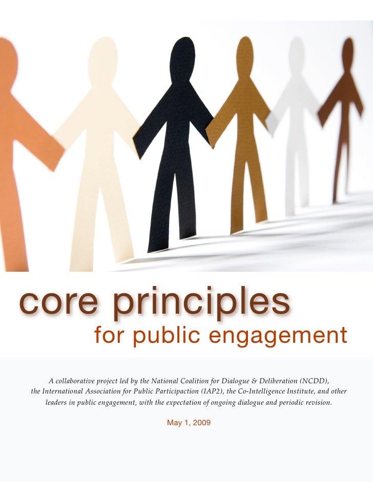 Core Principles for Public Engagement