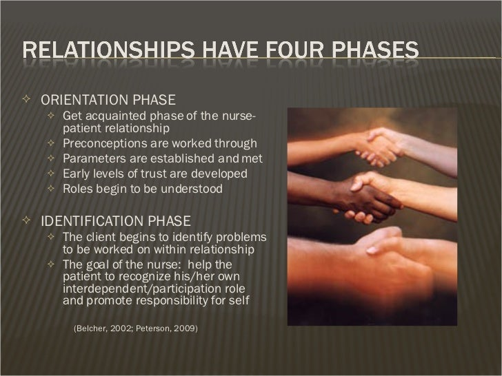 nurse client relationship working phase of the heart