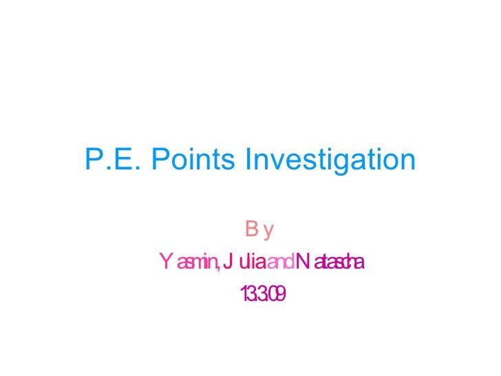 Pe Point InvestigationNKYSJR