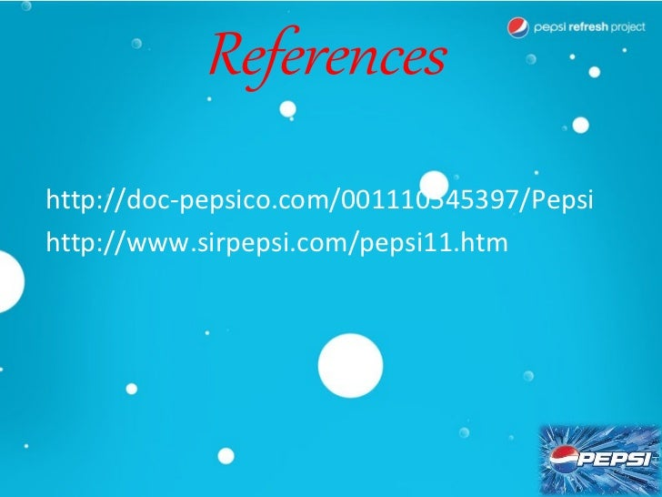 list all the promotional mix elements used in the pepsi refresh campaign Through all the year they are having slogans about new generation and  changing  these elements into an integration marketing communications  campaign  is the pepsi refresh campaign consistent with that audience.