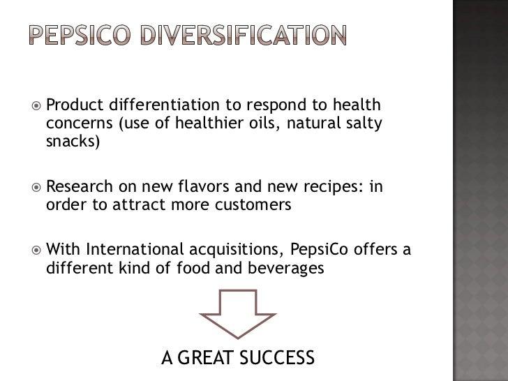 pepsico strategy diversificaion