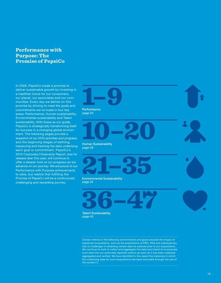 PepsiCo Annual Report 2010 Performance With Purpose