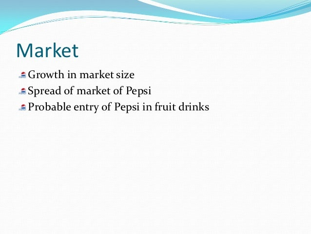 sales promotion of pepsi essays Locations of bottling plants of pepsi in india objectives of the project the project sales promotion strategy of pepsi in noida & ncr was designed on the lines of basic investment decisions to be taken by the senior officials of pepsi for the purpose of amendments in the pre-existing distribution network in order to review and strengthen.