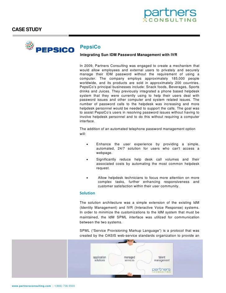 CASE STUDY                                                  PepsiCo                                                Integra...