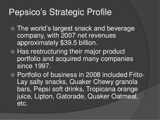 pepsi cos restaurants essay What do you think of pepsico's decision to spin off its restaurant division good idea bad are you looking for a similar paper or any other quality academic essay.
