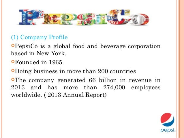 the pepsi company Pepsico, parent company of pepsi, frito-lay, tropicana, gatorade, and quaker  discover who we are, what we believe, brands, news and.