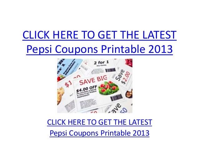 Pepsi coupons printable 2013   pepsi coupons printable 2013