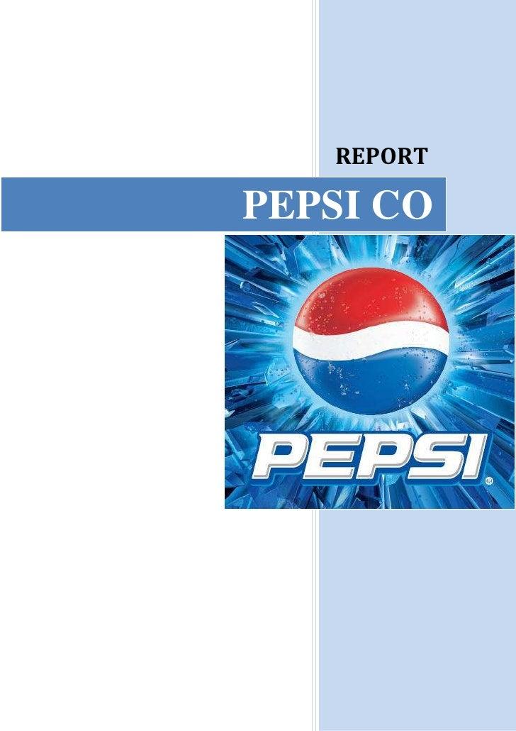 Pepsi final report