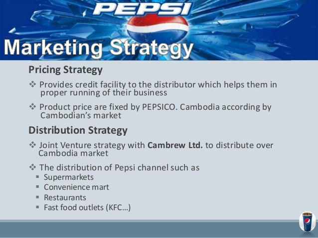 pepsico management and marketing Full over view of the strategic management in pepsico  1 in beverage market  pepsi is still need to compete with coca-cola pepsi is new.