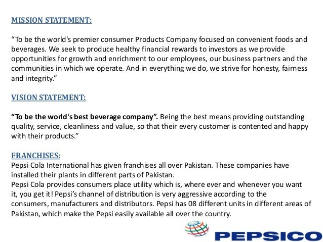 free sample of marketing plan of pepsi cola Appendix c sample marketing plan c 1  staff focuses on the further development and marketing of the  the company is currently debt free except for the mortgage.