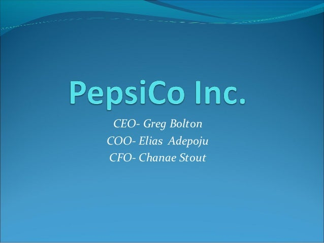 Pepsi present.