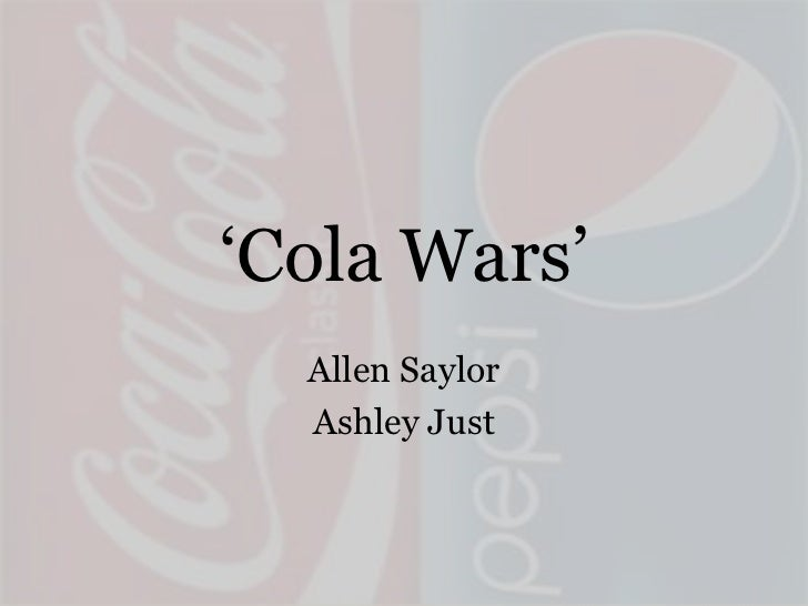 coke v pepsi case study A brief presentation on case study cola wars where we try to analyse the past  history and predict the future of their business and growth.