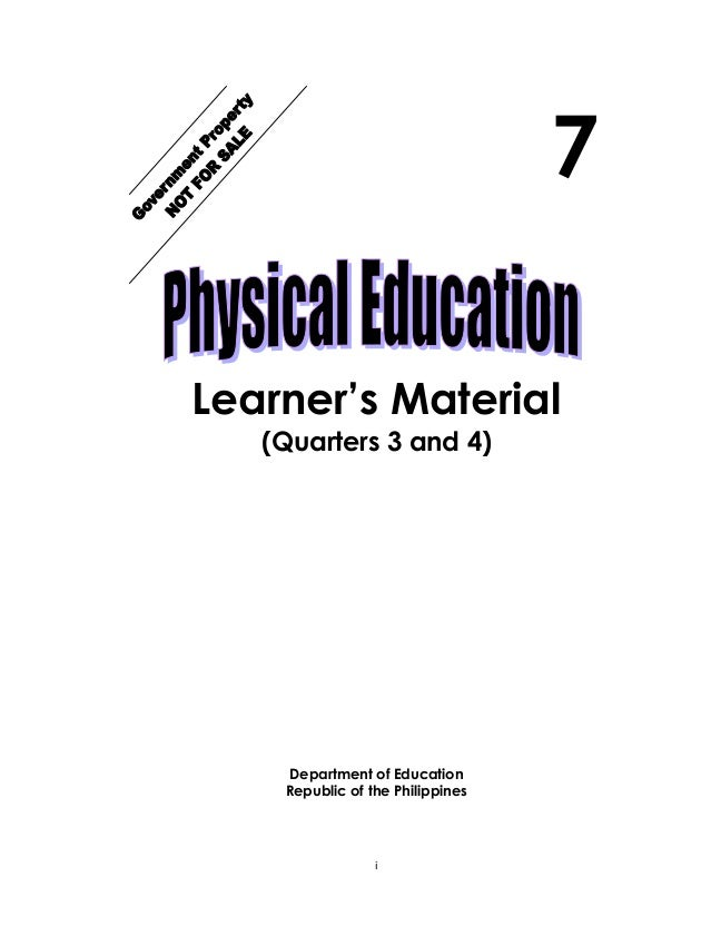 K TO 12 GRADE 7 LEARNING MODULE IN PHYSICAL EDUCATION (Q3-Q4)