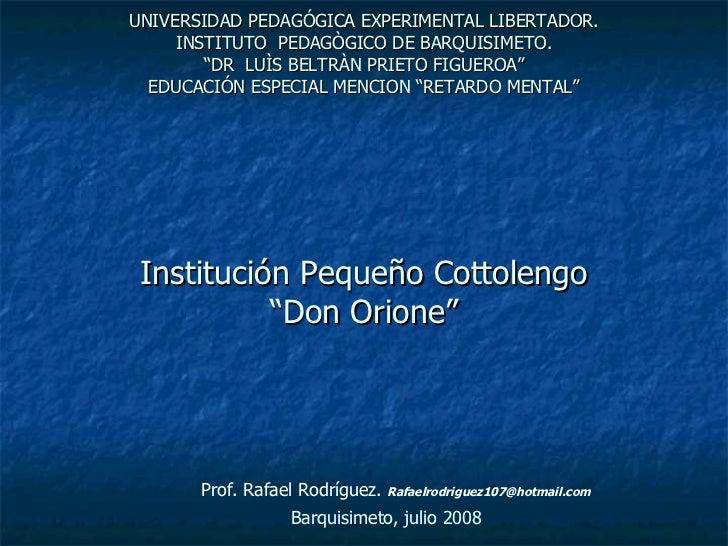 Cottolengo _Venezuela