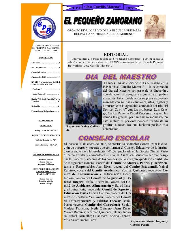 E.P.B. ―José Carrillo Moreno‖             1979                                                 ORGANO DIVULGATIVO DE LA ES...