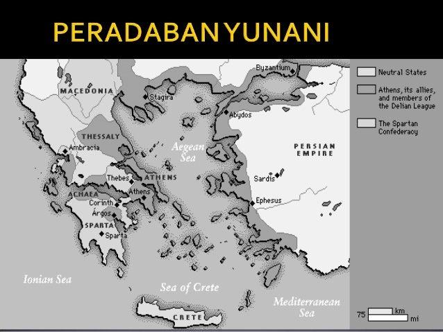  Yunani terletak di EropaTenggara Kadang disebut semenanjung Balkan Barat : Laut Ionia Timur : Laut Aegia Selatan : L...
