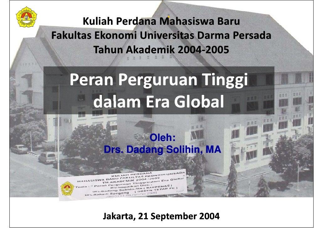 Peran Perguruan Tinggi dalam Era Global