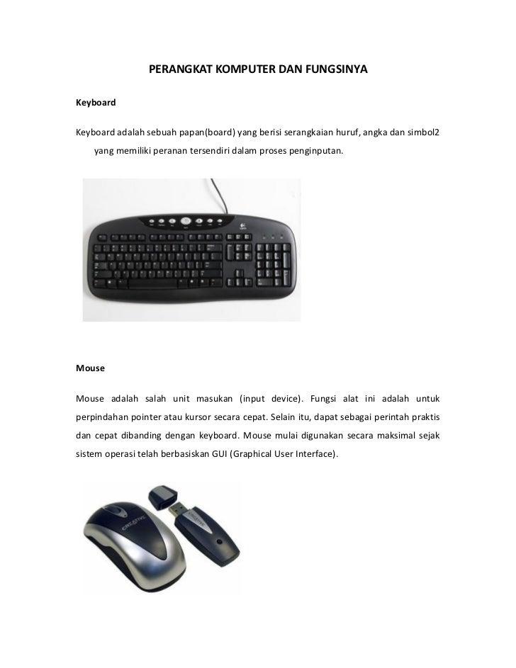 Perangkat komputer dan Fungsinya